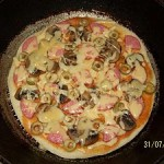 Пицца на сковороде.