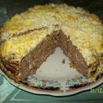 Лёгкий и вкусный рецепт печёночного торта.