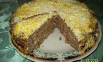 рецепт печёночного торта
