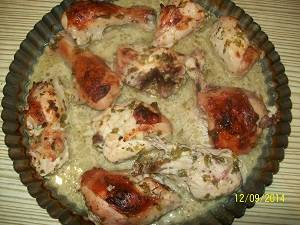 готовая курица в маринаде