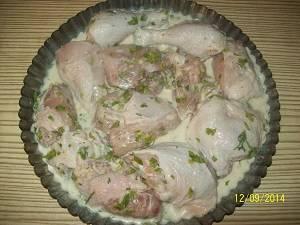 курица в маринаде в форме