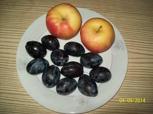 яблочно-сливовая начинка