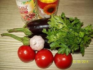 ингредиенты для маринованых баклажан