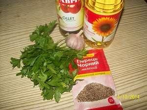 ингредиенты заправки для жареной вешенки