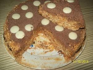 торт коровка в разрезе
