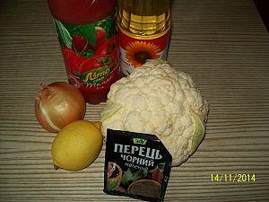 ингредиенты для капусты в томате