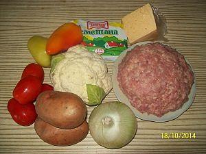 ингредиенты для овощной запеканки