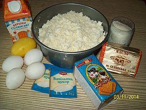 ингредиенты для вкусной творожной запеканки
