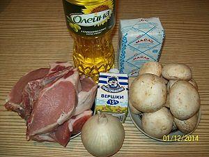 ингредиенты для  отбивных из свинины в духовке