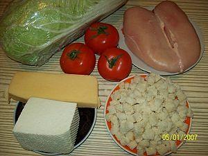 ингредиенты для салата цезарь