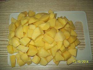 картошка крупным кубиком