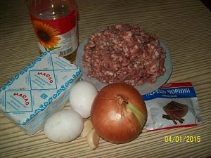 ингредиенты для котлет по-донбасски