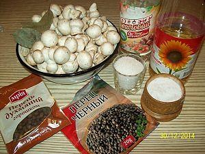 ингредиенты для шампиньонов быстрого приготовления
