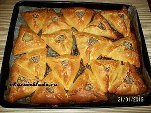 готовые пирожки с мясом и картошкой