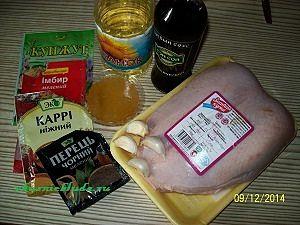 ингредиенты для филе в маринаде