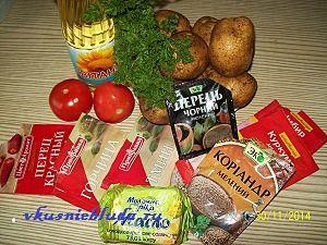 ингредиенты для картошки по-бомбейски