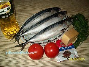ингредиенты для скумбрии с овощами