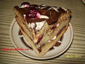 порция торта пьяная вишня