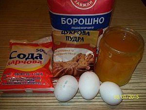 продукты для коржей на пьяную вишню