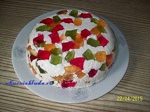 готовый желейный торт