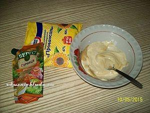 майонез с горчицей для бёдрышек