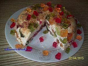 нарезаем желейный торт