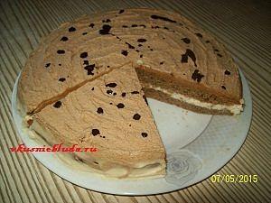 подача кофейного торта