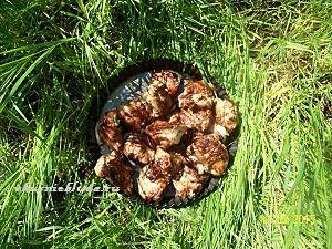 подача шашлыка из курицы