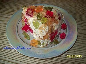 подача желейного торта