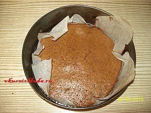 выпекание коржей для кофейного торта