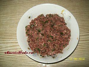 фарш для овощного супа с фрикадельками