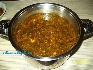 готовый суп со щавелем