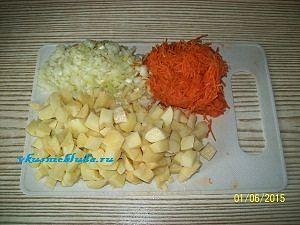 нарезка овощей для щавелевого супа