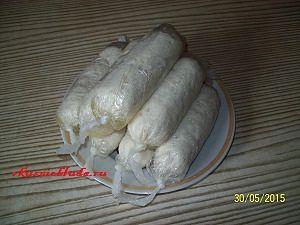 отваренные куриные сосиски
