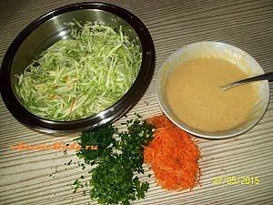 овощи для кабачковых оладий