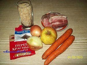 ингредиенты для перловой каши