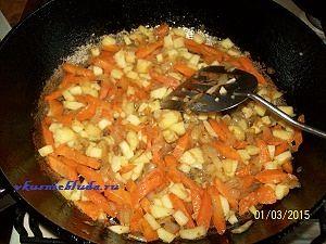 поджарка овощей для перловки