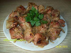 вкусный шашлык из свинины в духовке