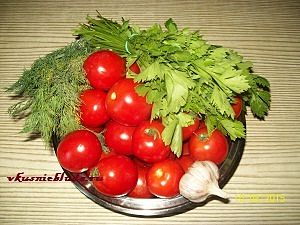 ингредиенты для быстрого соления помидор
