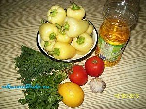 ингредиенты для жареного перца