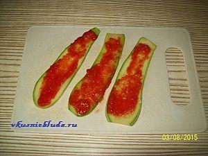 кабачки с соусом