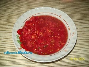 мякоть помидоров для фарша
