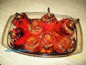 запеченные фаршированные овощи