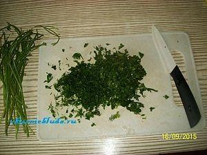 зелень для начинки овощей