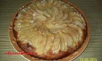 дрожжевой пирог с грушами