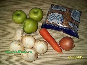 гречка и овощи для гуся