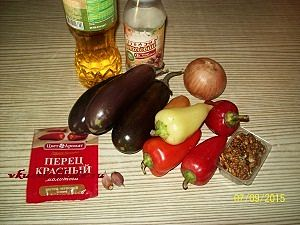 ингредиенты для перцев и синих в маринаде