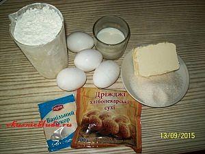 ингредиенты для пирога с грушами