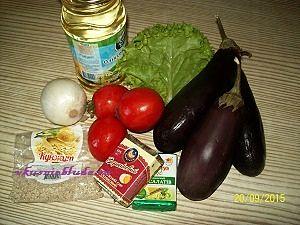 ингредиенты для салата из баклажан
