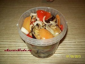 перец и баклажаны в маринаде